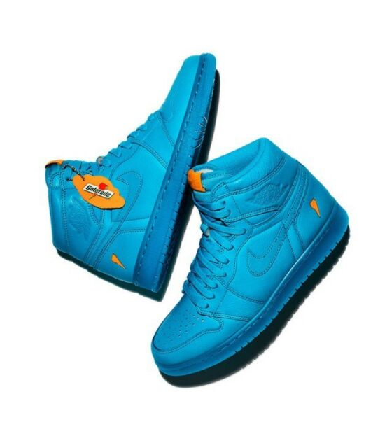 002d8d8b42b0 Air Jordan 1 Retro High OG Gatorade Cool Blue Lagoon AJ5997-455 w Receipt
