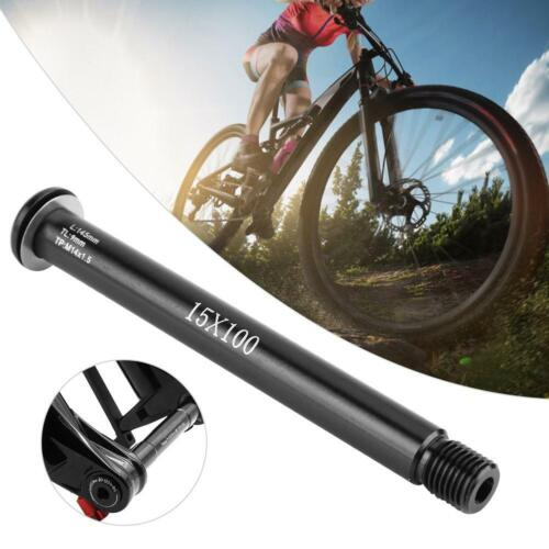 Bike Front Hubs Tube Shaft Bicycle Front Axle Lever 100*15mm for FOX SC32 34 36