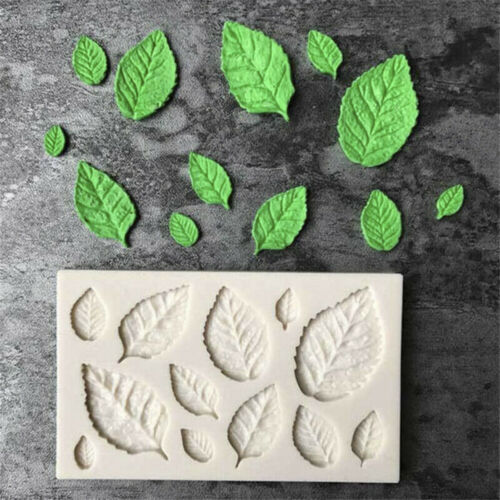 1PC Leaves Embellisment Silicone Fondant Mould Cake Decor Sugar Chocolate Mold