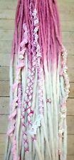 Wool Dreadlocks Custom Wool Dreads Double Ended Dreads set of 20