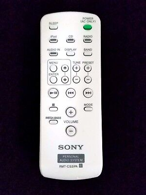 Brand New Sony RMT-CS2IPA RMT-CS2IPAD for ZS-S2IP ZS-S4IP Personal Audio System