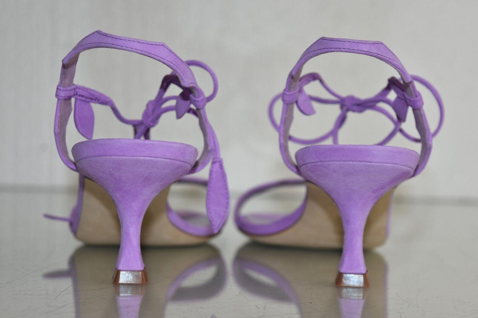 Neuf Manolo Blahnik Zouliplain 50 Chaton Sandales Violet Lavande Lavande Lavande Chaussures Daim ebf1ba