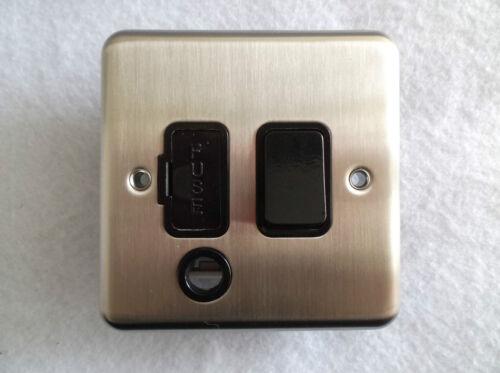 Switched fused éperon en chrome satiné 13AMP avec flex outlet 1915SCB