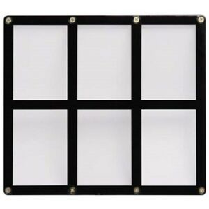 ULTRA-PRO-BLACK-FRAME-6-CARD-SCREWDOWN-HOLDER-New-Clear-Trading-Storage-Display