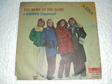 "ABBA name of the game DEMO SINGLE PROMO NOT FOR SALE rare INDIA UNIQUE ps 45 7"""