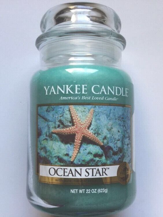 Yankee Candle OCEAN STAR 22 oz. LARGE JAR HTF RETIRED SCENT