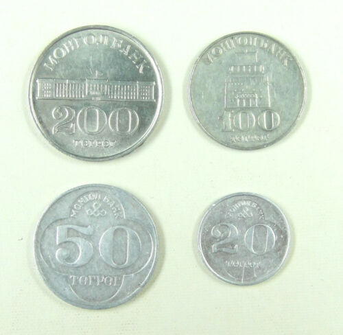 Mongolia Coins Set of 4 Pieces New Edition