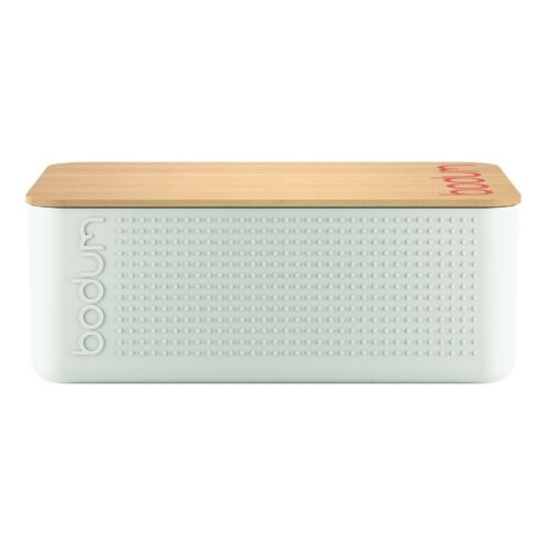 Off white NEW Bodum Bistro Bread Box with Bamboo Cutting Board