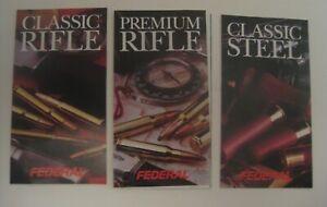 3 New Old Stock Vintage 1992 Federal Premium Fusil & Steel Shot Rechargement Guide Manuel-afficher Le Titre D'origine