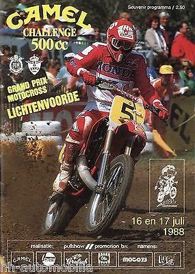 DemüTigen Programm Camel Challenge 500 Cc 1988 Grand Prix Moto Cross Lichtenvoorde Nl GroßEs Sortiment