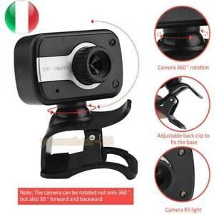 Webcam USB Mic Web cam Camera Telecamera CON Microfono Videocamera Per PC HD