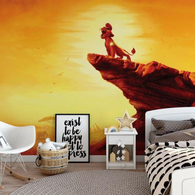 Disney Kids Wallpaper Mural 254x184cm Photo Wall Decor Orange Lion Guard King