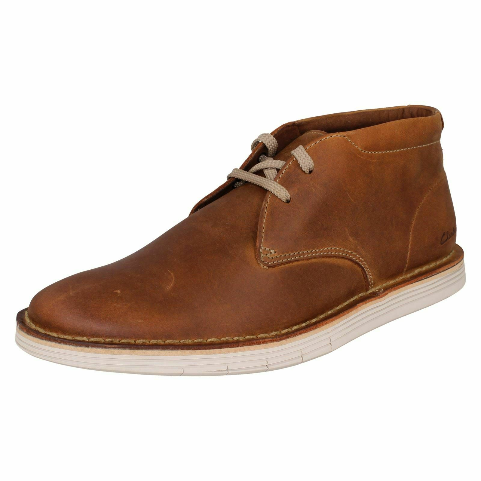 Mens Clarks Lace Up Casual Ankle Stiefel 'Forge Stride'