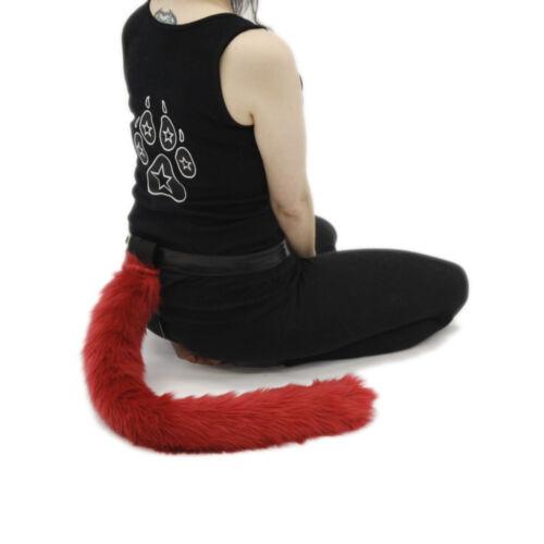 PAWSTAR Furry Cat Tail Plush Costume Monkey Animal Rust Brown Best Fluffy 3500