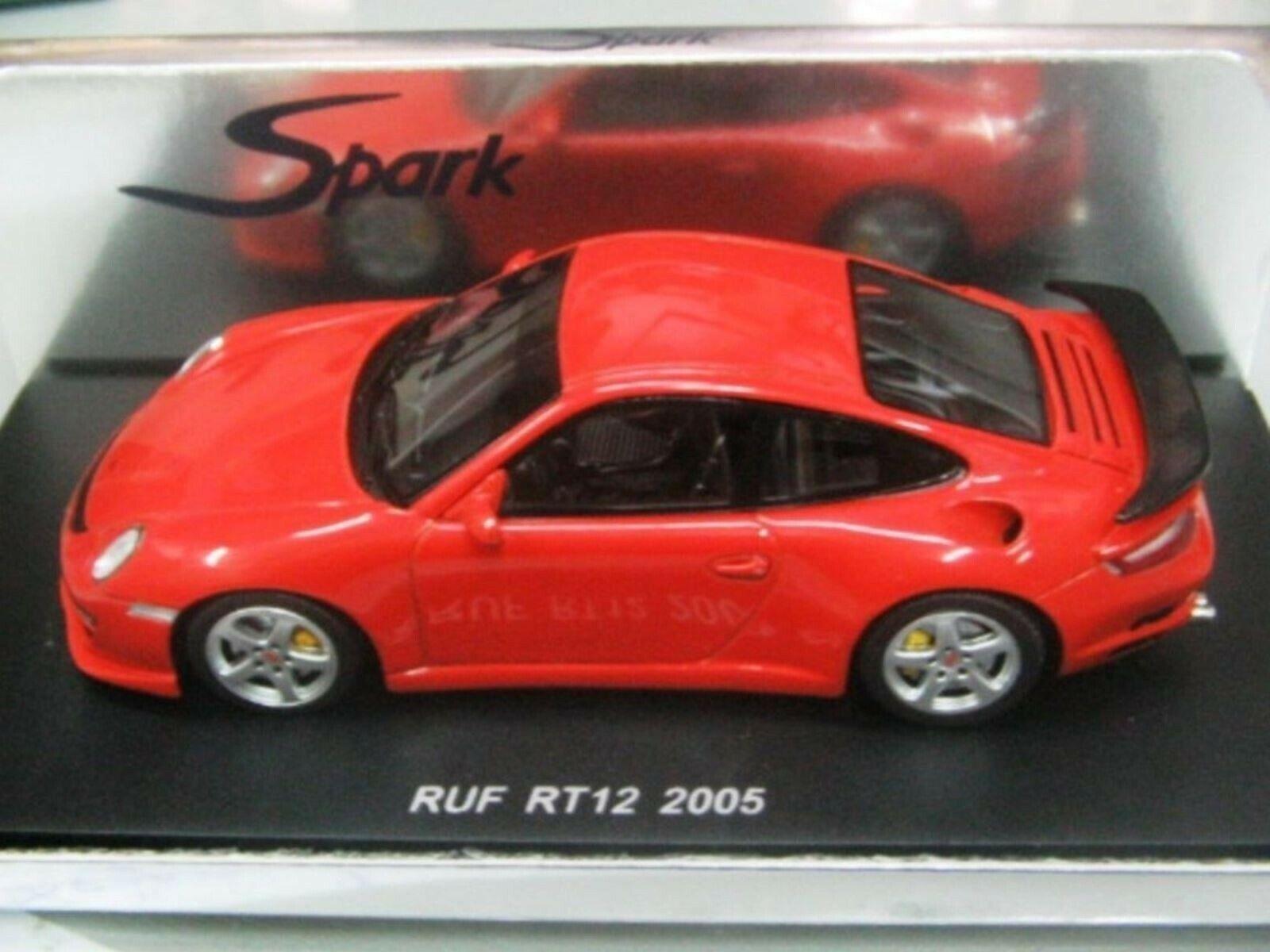 Wow extrêmement rare Porsche 997 911 2005 TURBO 3.8 RUF RT12 Orange 1 43 Spark-PMA