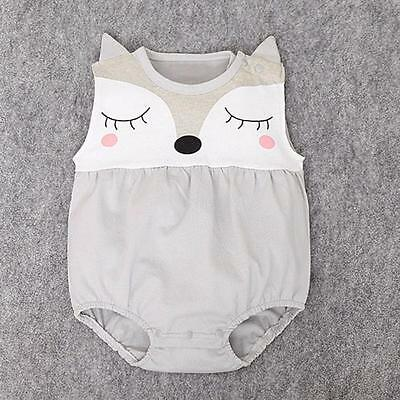 Cartoon Cute Newborn Baby Girls Boys Teddy Jumpsuit Romper Bodysuit Loose Outfit