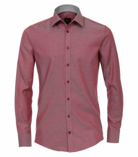 Venti-Slim Fit-Uomo Camicia manica lunga con colletto Kent 172815700