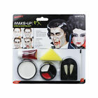 Vampire Make up Face Paint Set Kit Blood Fangs Halloween Accessory Smiffys 37808