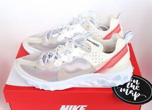 a5fab901a31d Nike React Element 87 White Sail Bone AQ1090-100 UK 5 6 7 8 9 10 11 ...