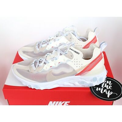 Nike React Element 87 White Sail Bone AQ1090-100 UK 5 6 7 8 9 10 11 12 US New
