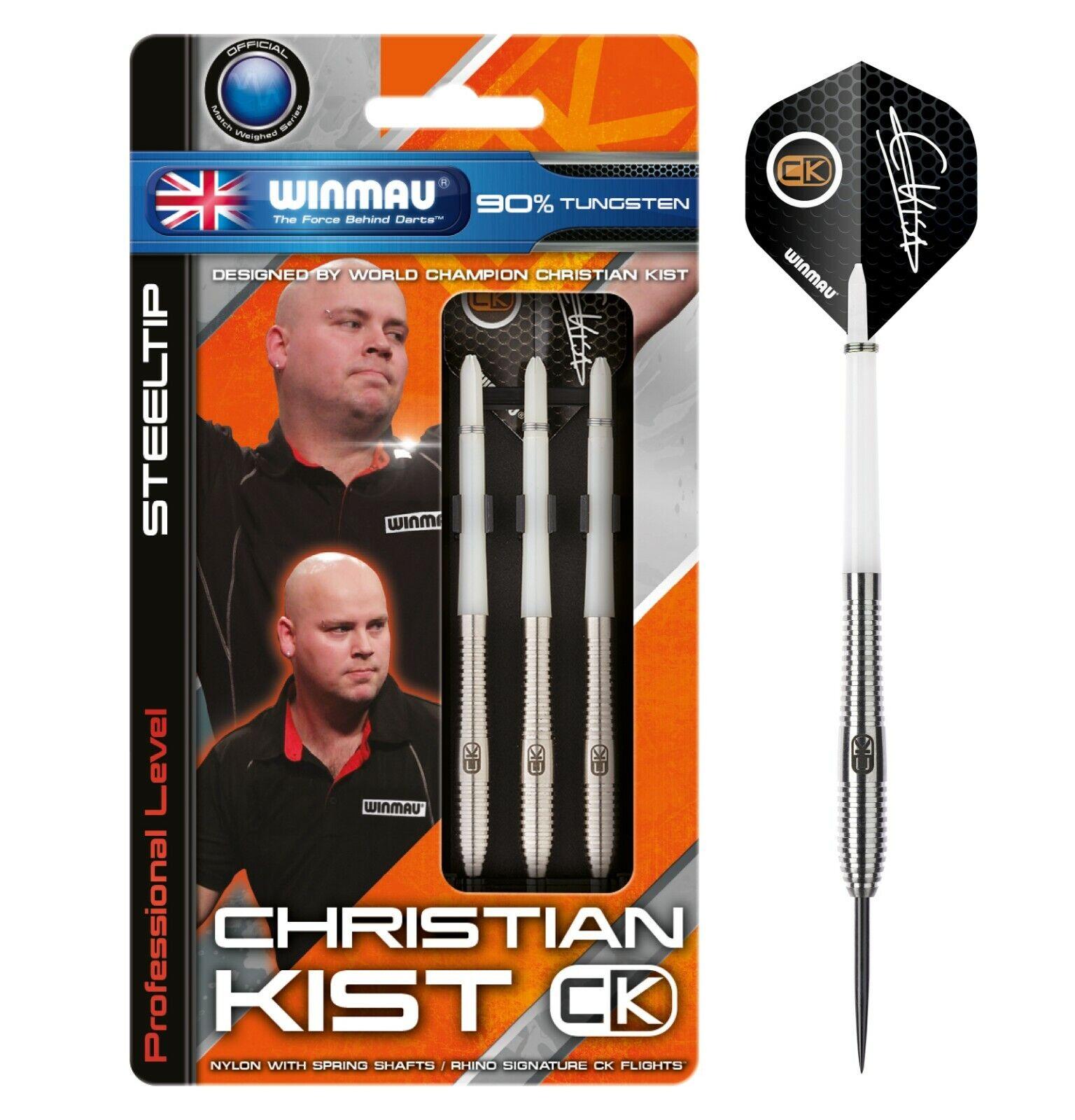 Winmau Christian Kist 90% Tungsten Steel Tip Darts - 22g, 24g & 26g