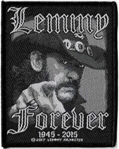 Official-Merch-Woven-Sew-on-PATCH-Metal-Rock-Motorhead-LEMMY-Forever-1945-2015