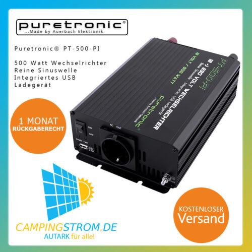 Puretronic ® pt-500-pi 500 W PUR SINUS Onduleur/Inverter avec USB