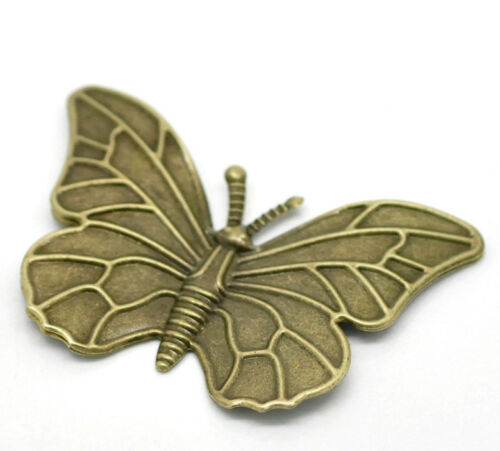 Antique Bronze Papillon 5 Grand filigrane Findings Charms 887 Carte Making Craft