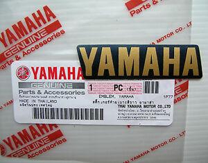 ORIGINAL Yamaha Schriftzug Aufkleber 6cm S GOLD Logo