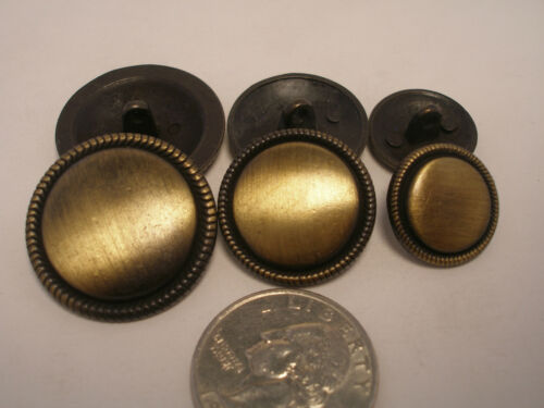 """11//16 NEUF LOTS de finition laiton vieilli les boutons en métal 1 1//8 7//8/"""" /& Blazers #ABO"""
