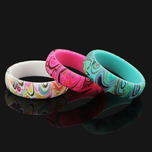 3 Silicone wedding ring Women rubber band Modern New Design Style sport Yoga