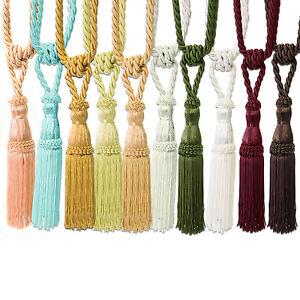 Colorful Window Curtain Rope Fringe Lashing  Holdback Tassel Decor  JH