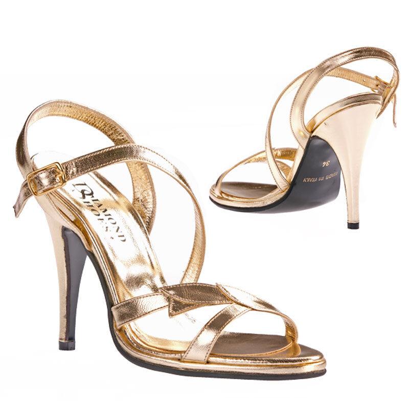 consegna gratuita 9,5 cm cm cm D'oro TACCO ALTO matrimonio DIAMOND scarpe Taglia 31 32 33 in dimensione  all'ingrosso a buon mercato