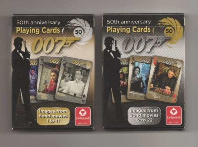 James Bond New 50th Anniversary Playing Cards 2 Packs Cartamundi