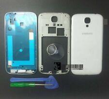 OEM Samsung Galaxy S4 i9500 Full Housing Cover Frame Door Back Case White+Tools