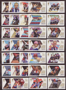 2012 Olympic Paralympics. Complete set x 34 values. Superb unmounted mint.