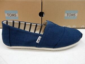 7dcdf126cc0 Image is loading TOMS-MENS-SHOES-CLASSIC-MAJOLICA-BLUE-HERITAGE-CANVAS-