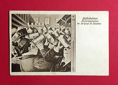 Bayern Reklame Ak MÜnchen 1916 Hofbräuhaus Bier Bierkrug 48647 Attraktiv Und Langlebig
