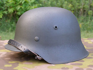 Details about Original German WWII Refurbished M42 Helmet Size 66 Shell  Size 58 Or 59 Liner