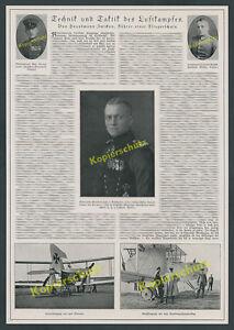 Luftwaffe-Fliegertruppe-Technik-Taktik-Richthofen-Immelmann-Hptm-Zwickau-1917