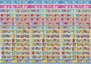 Striscione di auguri Bunting Bambini Festa Di Compleanno Decorazione Per Bambini Ragazzi Ragazze Età  </span>