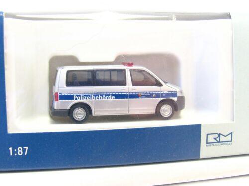 RB9607 Rietze 1//87 51866 VW T5 Polizeibehörde Karlsruhe OVP