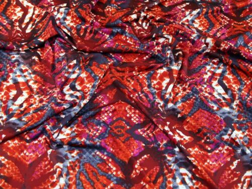 Resumen de impresión estiramiento jersey Vestido de punto tela EM-1415-Red-M
