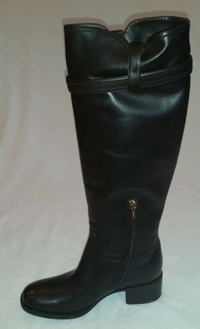 SALVATORE FERRAGAMO WOMEN DARK BROWN LEATHER ROBESPIERRE ROBESPIERRE ROBESPIERRE KNEE HIGH BOOTS 10 U.S 636f41
