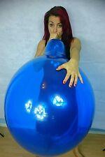 "Tuftex Kristall Blau 24"" Zoll NEU Ballon Fetisch Luftballon Looner Gummi Latex"