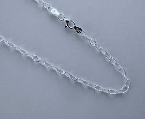 "18/"" Italian Rolo Link Chain Sterling Silver 16/"""