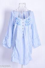 Culture danish design Calkaka top tunika tunic embroidered stickerei size EU XL