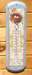 From-Small-Beginnings-Bird-Nest-THERMOMETER-country-cottage-kitchen-wall-decor