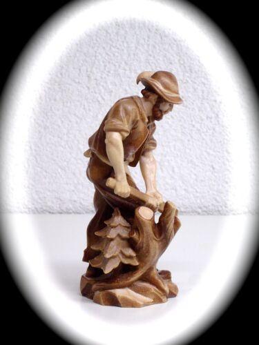 geschnitzte Figur Holzhacker Waldmann 10 cm Antik Sammler Figur Südtirol 15458