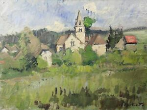 Oil-on-Canvas-Signed-in-Bottom-Right-yvelines-near-Paris